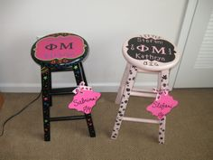 Big Little Painted Stools!!!! SO CUTE.