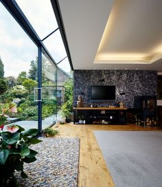 contemporary structural glass sliding door & SunSeeker Doors manufactures/installs bi folding doors slide-pivot ...