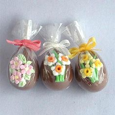 Chocolate Easter Eggs - dollhouse 1/12 miniature by Blue Kitty Miniatures, via Flickr