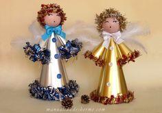 Hacer un ángel de Navidad   Manualidades