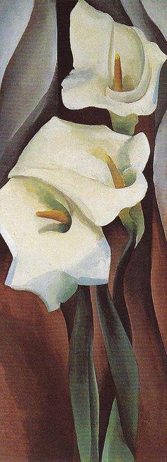 Georgia O'Keeffe. Calla Lilies 1924 460