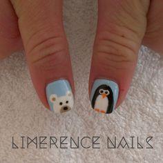 limerencenails: Polar Bear & Penguin