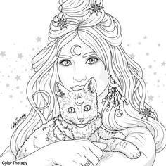 - Coloring pages Witch Coloring Pages, People Coloring Pages, Tattoo Coloring Book, Cat Coloring Page, Free Adult Coloring Pages, Halloween Coloring Pages, Coloring Pages For Girls, Animal Coloring Pages, Coloring Pages To Print