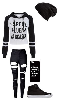 """""""Untitled #148"""" by darksoul7 ❤ liked on Polyvore featuring WithChic, Free People, Vans and Casetify"""