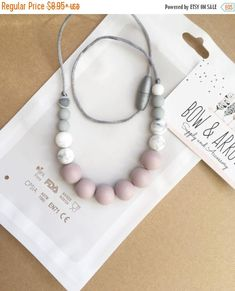 ON Sale Teething Necklace/ Silicone Necklace/ Gift For Her/ Baby Wrap Carrier/ Nursing/ Baby Shower Gift/ New Mom