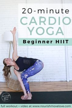HIIT Cardio Yoga Workout Are you looking for a 20 minute at home workout? Look no further than our Cardio Yoga HIIT workout! It's a great postpartum workout and workout for beginners! Cardio Yoga, Workout Cardio, 20 Minute Workout, Workout Diet, Interval Workouts, Woman Workout, Pilates Yoga, Pilates Reformer, Workout Tanks