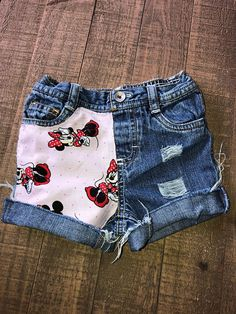 6cc7d261d2 Girls Shorts- Boys Shorts- Cartoon Shorties- Minnie Mouse Kids Shorts-  Distressed Shorts- Baby Girl Shorts- Baby Boy Shorts- Kids Fashion