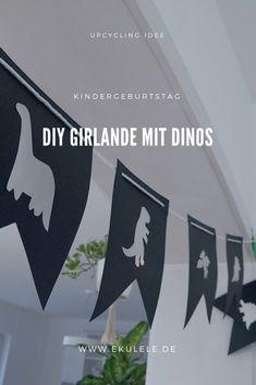 Dino decoration, dino party, children's birthday, garland, DIY - Sites new Dinosaur Party, Dinosaur Birthday, Cute Dinosaur, Diy Bralette, Birthday Garland, Diy Birthday, Diy Girlande, Monster Party, Social Platform