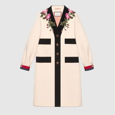 cb619e0510f Enjoy the range of women s furs by Gucci. The new collection of women s  jackets and coats features the Mink GG intarsia coat and the print pajama  kimono.