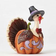 Mini Pumpkin Turkey Figurine