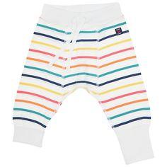 Buy Polarn O. Pyret Baby Striped Leggings, White/Multi | John Lewis