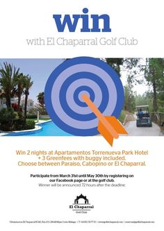 Two nights FREE and 3 greenfees FREE as well. Don't miss this oportunity