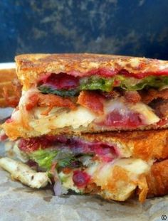 Turkey Sandwich #best recipe to try Soup And Sandwich, Sandwich Recipes, Lunch Recipes, Dinner Recipes, Turkey Sandwiches, Wrap Sandwiches, Paninis, Cookbook Recipes, Cooking Recipes