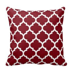 Burgundy and White Moroccan Quatrefoil Trellis Pattern #5 <br> </br> You can customize this with your own text and / or images if you so choose to make your own unique design. <br> </br> If you would like this design in other colors, just drop us an email. <br> </br> 2014 ©FantabulousPatterns All rights reserved