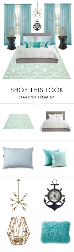 """Ocean Vibe Room"" by anchorheart12 ❤ liked on Polyvore featuring interior, interiors, interior design, home, home decor, interior decorating, Avery, L.L.Bean and Nordstrom Rack"