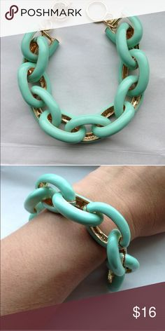 Mint Link Bracelet No trades, price firm. Gold tone Jewelry Bracelets