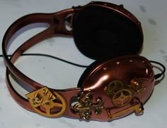 Now those are totally cool. Steampunk headphones.