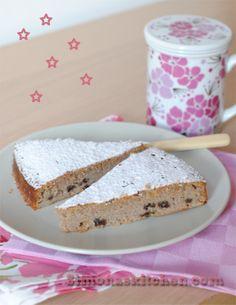 Simona'sKitchen: Torta da Thé con Farina di Mandorle e Castagne - Tea Cake with Almond and Chestnut Floar - Tarte à la Farine des Amandes et...