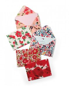 Fabric Scrap Envelopes -- A great way to use up a stash of smaller fabrics pieces!