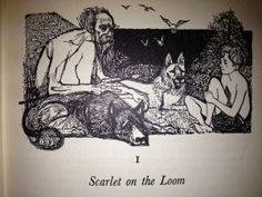 Charles Keeping's illustrations to Warrior Scarlet by Rosemary Sutcliff