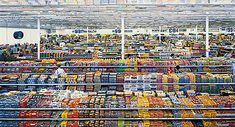 Andreus Gursky's use of color, repetition, and line in this photo makes it an immediate eye catcher. I can hardly even imagine its true size
