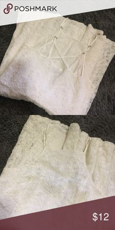 White lace dress Perfect condition, worn once (first pic is the back) Abercrombie & Fitch Dresses Mini
