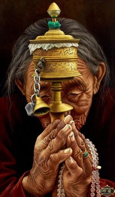 """'Om Mani Padme Hum' - we see this mantra on so many things - prayer wheels, inscribed on rock,painted on walls, on prayer flags,etc...but what does it represent? Dilgo Khyentse Rinpoche explain """"The mantra Om Mani Pädme Hum is easy to say yet quite powerful, because it contains the essence of the entire teaching. When you say the first syllable Om it is blessed to help you achieve perfection in the practice of generosity...cont"""