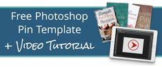 Free Photoshop Pinterest template