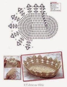 Horgolt mintagyűjtemény: Kosárka