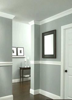 Dining Room Paint Color Ideas Cool Dining Room Paint Colors With Chair Rail - Home Design Ideas Dining Room Paint Colors, Living Room Colors, Living Room Paint, Wall Colors, Color Walls, Living Rooms, Kitchen Colors, Two Tone Walls, Wainscoting Styles