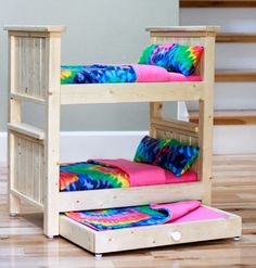 love this Ana White hack!! perfect for the girls' dolls Santa is bringing AND room for a friend's soll to spend the night ; )  The Friendly Home: Santa's Workshop