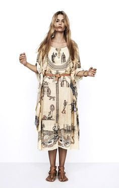 lostinfiber: Hungarian label, Nanushka's Spring/Summer 2013 'Story Print Dress' the poetry of material things Hippie Chic, Bohemian Style, Boho Chic, Bohemian Summer, Bohemian Fashion, Boho Dress, Dress Up, Fashion Labels, Fashion Outfits