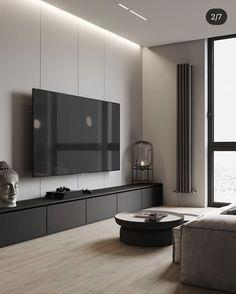 Decor Home Living Room, Living Room Interior, Home And Living, Living Room Designs, Apartment Interior Design, Luxury Interior Design, Modern Tv Room, Classic Living Room, Piece A Vivre