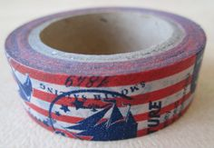 Washi Tape  1 Roll  Nautical Print  15mmx10m by HazalsBazaar