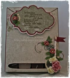 Serviett og te-lys gaveeske, gift box, napkin box, papirbretting, paperfolding, scrapbooking, scrapbook, 3D,