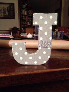 Letra hecha con servilletas!