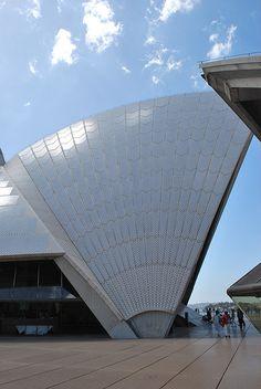 Opera House roof (sail) detail.  Sydney Harbour, Sydney, Australia