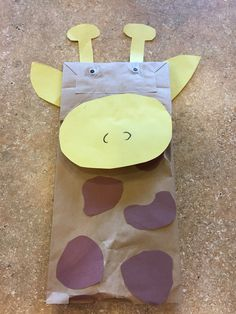 Make a super-simple giraffe from a paper bag