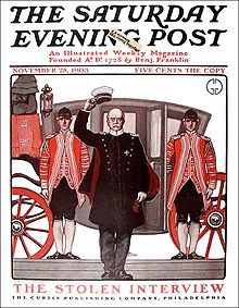 1903 cover of The Saturday Evening Post: Otto von Bismarck illustrated by George Gibbs