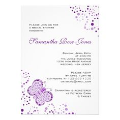 See MorePurple White Butterfly Pointillism Bridal Shower Custom Invitetoday price drop and special promotion. Get The best buy