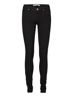 EVE LW SKINNY FIT JEANS, Black