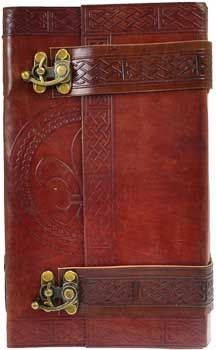 Celtic leather blank book w/ latch - www.thetarotoracle.com