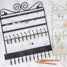 This fashionable wall hanging jewellery holder is the one and only jewellery organiser you need! Simple hang it on the wall or door and order is here! Jewelry Holder Wall, Hanging Jewelry, Finding Yourself, Hair Accessories, Victorian, Organization, Jewellery, Stuff To Buy, Getting Organized