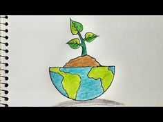 How to Draw Save Earth Stop Pollution drawing for kids step by step Save Trees Save Environment Drawing for kids. How to Draw Easy Save Earth Save Environmen. Save Water Drawing, Save Earth Drawing, World Environment Day Posters, Save Environment, Global Warming Drawing, Save Tree Save Earth, Nature Drawing For Kids, Earth Drawings, Save Nature