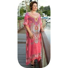 Pink with silver embellishment  Kyoto in Georgette