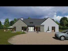 Irish Home Plans kind - Easy Home Plans Modern Bungalow House, Bungalow Exterior, Bungalow Homes, Dream House Plans, House Floor Plans, Style At Home, House Designs Ireland, Building A New Home, Types Of Houses