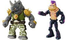 Figuras con los diseños de Bebop y Rocksteady en la serie animada Teenage Mutant Ninja Turtles