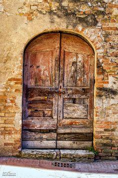 The door  Siena, Tuscany, Italy