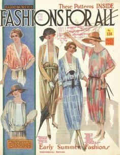 "Womens day dresses 1921- Street wear dresses or ""visiting dresses"" int he 1920s"