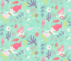 Neiko_Mermaid fabric by neiko on Spoonflower - custom fabric
